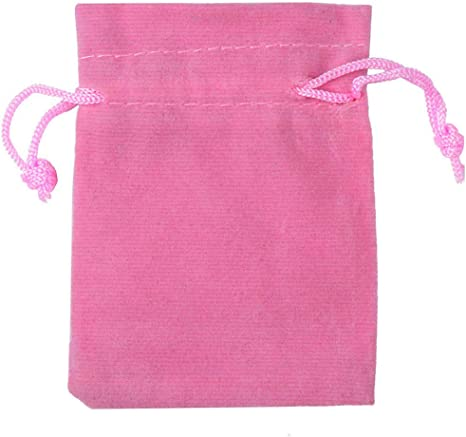 Perfect For Gift Pink Velvet Pouches