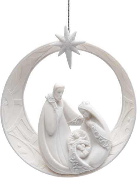 Amazon Com Appletree Design Holy Family Nativity Ornament 4 5 8 Inch Tall Home Kitchen