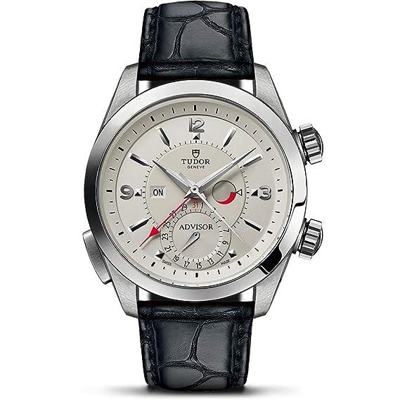 Tudor Advisor Reloj de Hombre automático 42mm Correa de Cuero M79620T-STWX: Amazon.es: Relojes