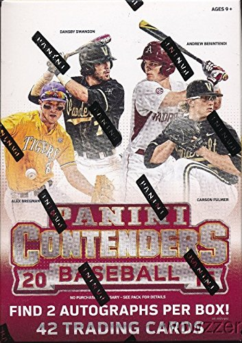 Legends Auto Card - 2015 Panini Contenders Baseball EXCLUSIVE Factory Sealed Retail Box with TWO(2) AUTOGRAPHS! Look for RC & AUTOS of Aaron Judge, Vladamir Guerrero Jr, Andrew Benintendi, Gleyber Torres & Many More!