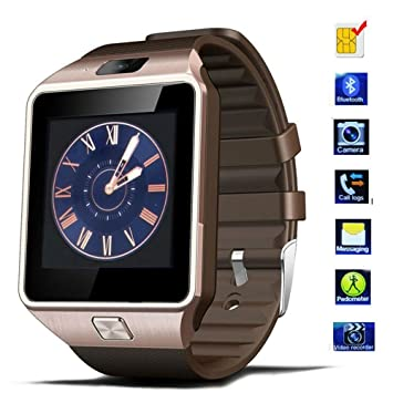 Bracelet de montre Smart Watch, tkstar dz09 Montre connectée Bluetooth écran tactile Smart Montre Téléphone Prise en charge SIM & Carte TF Android ...