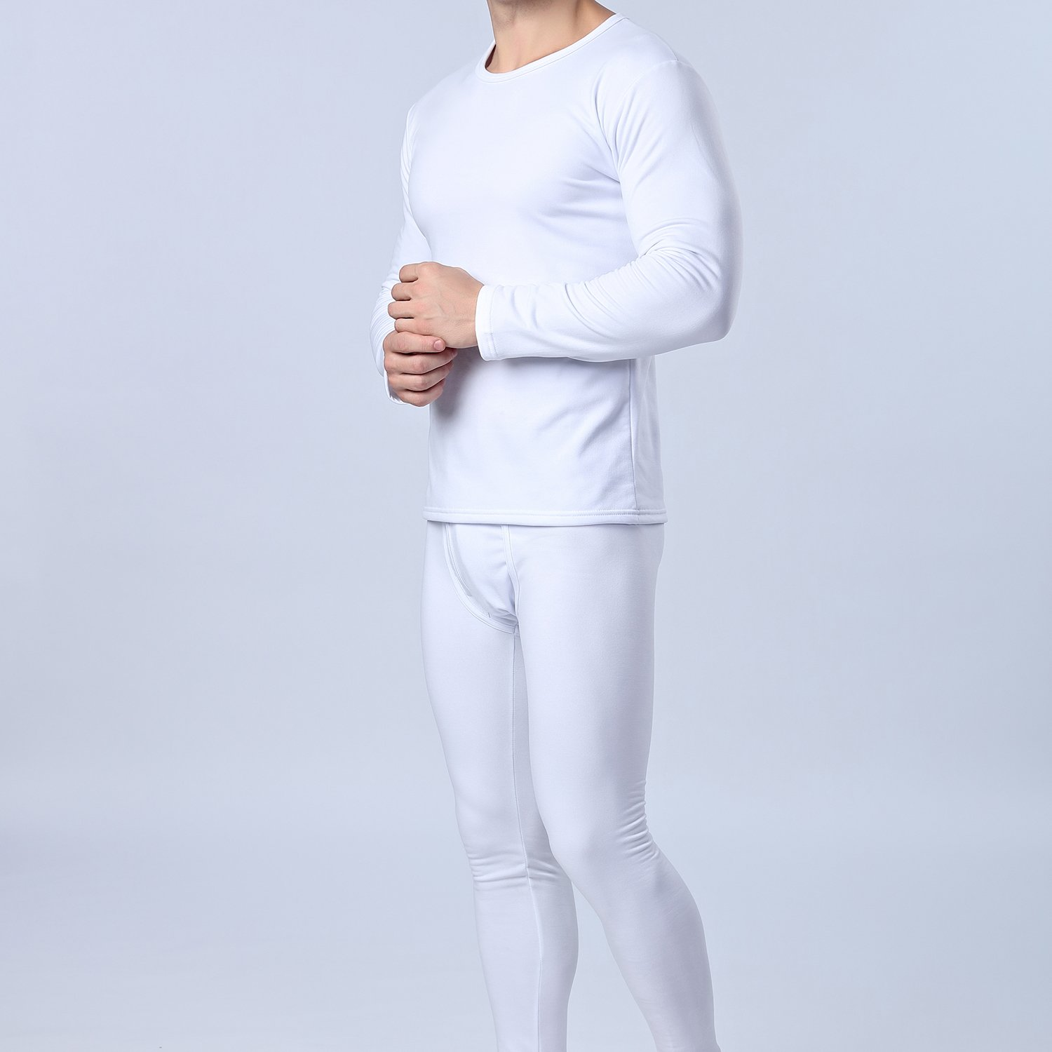 Men/'s Thermal Underwear Set Fluff Lining Long Sleeve Top /& Bottom Long Johns Pants for Winter Thermals Travel Camping Ski