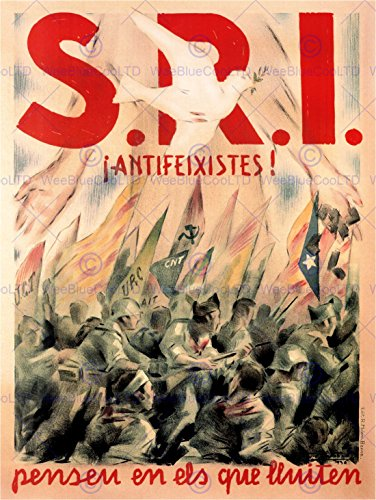 WAR PROPAGANDA SPANISH CIVIL ANTI FASCIST SRI STRUGGLE SPAINAD POSTER ART 2782PY (Anti War Propaganda Posters)