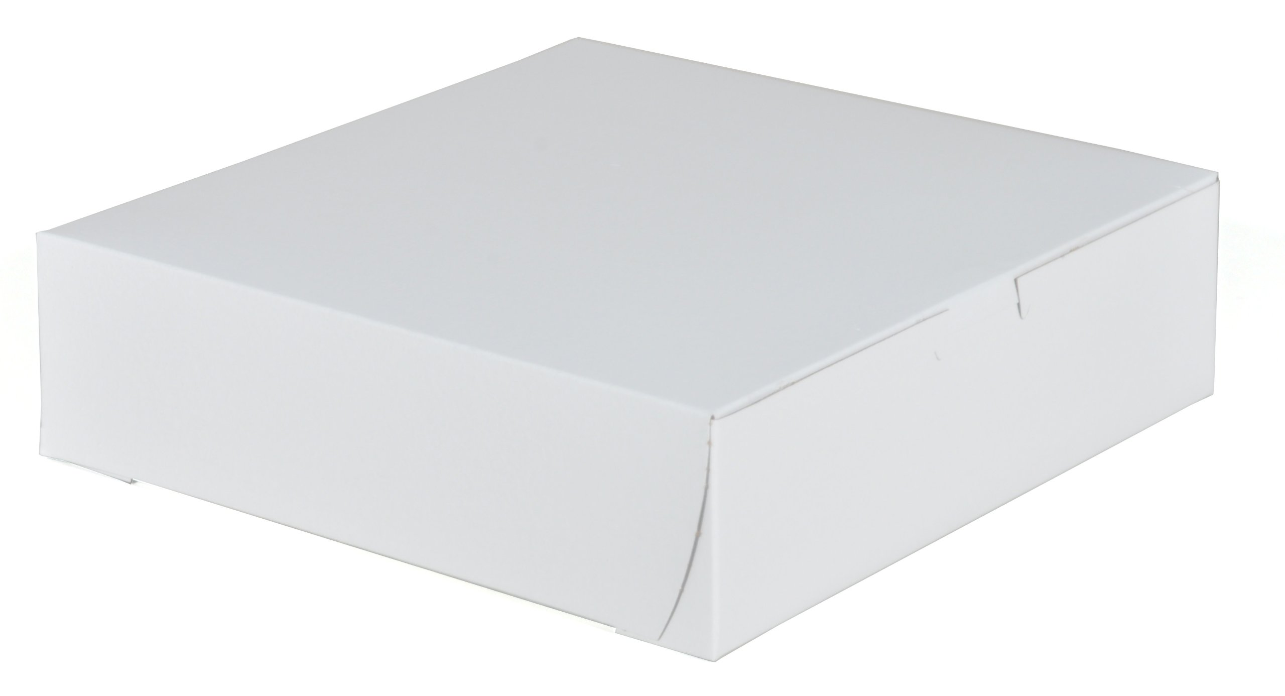 Southern Champion Tray 0953 Premium Clay-Coated Kraft Paperboard White Non-Window Lock Corner Bakery Box, 9'' Length x 9'' Width x 2.5'' Height (Case of 250)