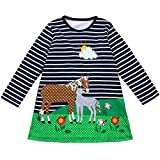 Clearance Sale!OverDose Toddler Kids Baby Girls Dress Long Sleeve Cartoon Dresss Tunic Outfits Children Costume(4T, A19)