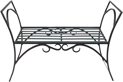 Achla Designs Wrought Iron Decorative Garden Arbor Bench