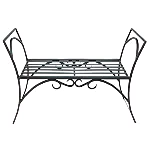 Achla Designs Wrought Iron Decorative Garden Arbor Bench