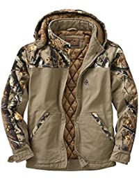 Men's Canvas Cross Trail Big Game Camo Workwear Jacket