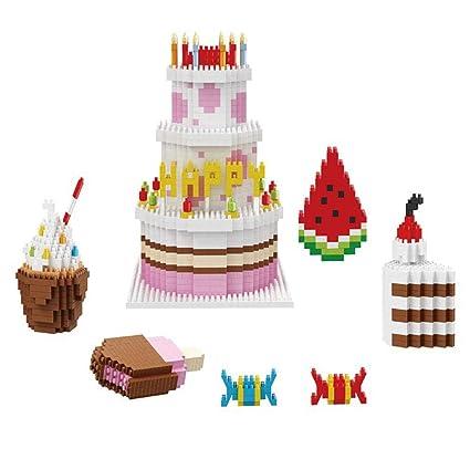 Amazon DIY Mini Diamond Micro Building Block Happy Birthday
