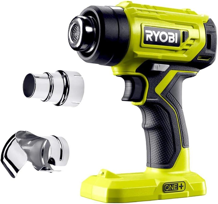 Ryobi R18HG-0 Decapador Inalámbrico, Pistola de Aire 18V, Luz LED para Iluminar la Zona del Trabajo. Alcanza hasta 470°C