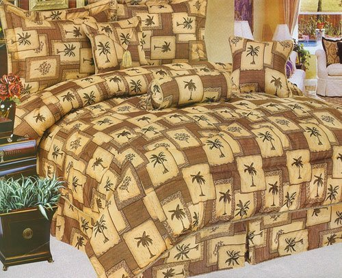 The-Palms-Queen-Size-7-Piece-Comforter-Set-Accessories