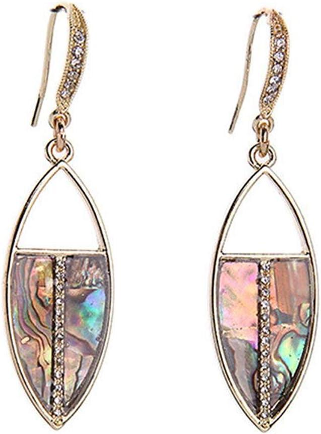 Katylen Earring Gancho de la reproducción de la joyería de Moda Pendientes de la Muchacha de la Gota de la Piedra Preciosa Fresca Coloreada