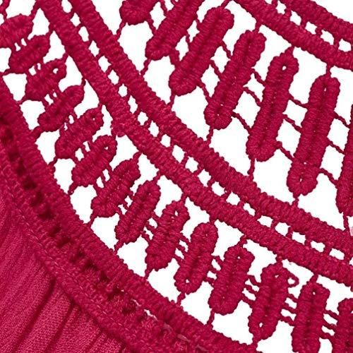 Libero Canotta Smanicato Rotondo Estivi Spiaggia Tunica Camicetta Hollow Collo Donna Grazioso Shirts Eleganti Stlie Monocromo Rot Tempo Baggy Senza Bretelle grnSqR6g