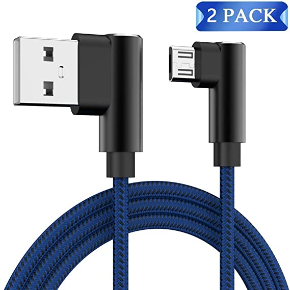 96be76552cda36 Micro USB Cable Android Right Angle, CTREEY 90 Degree Micro USB to USB 2.0  Cable