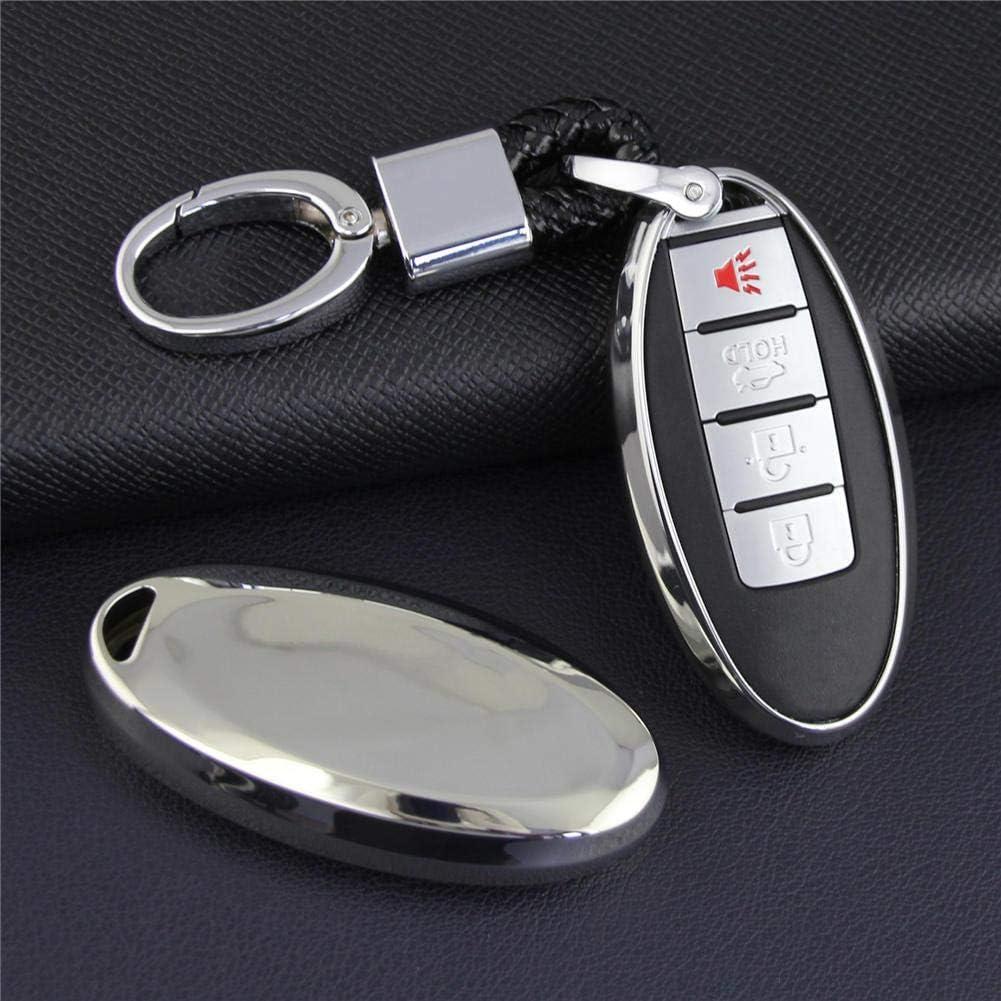 Couverture Souple de cl/é de Voiture de TPU de Smart FOB de Cas de Support de Poche de Poche Automatique de clefs pour Le Sport Qashqai Murano de Nissan Rogue//X-Trail pour Infiniti Q30 Q50