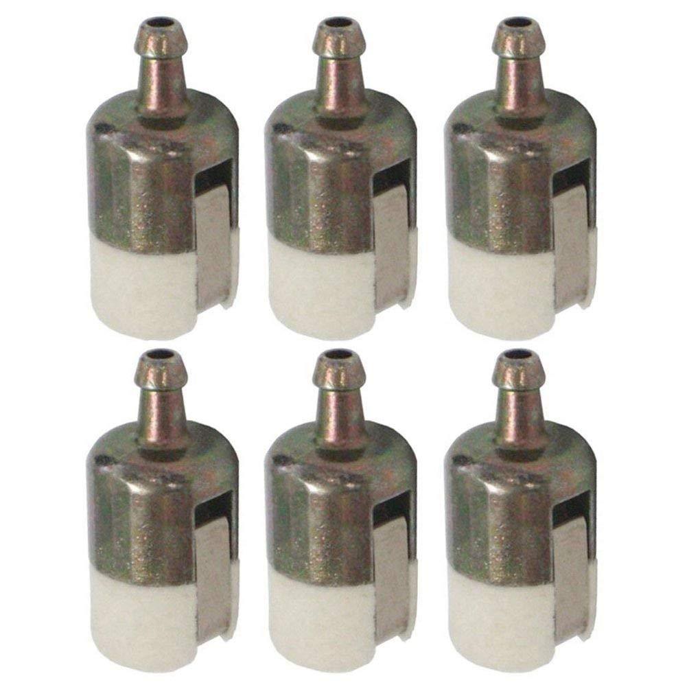 Paquete de 6 Cikuso 125-527 Filtro de Combustible 13120507320 13120519830 para Recortadora de Cadena de Eco//Laminador//Mochila Soplador