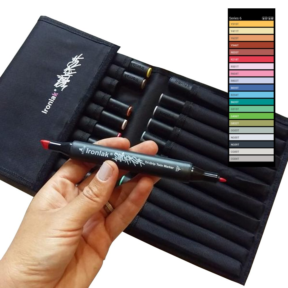 Ironlak Strikers - Dual Broad and Fine Tip Alcohol Graphic Markers (20 Pack, Series 6)