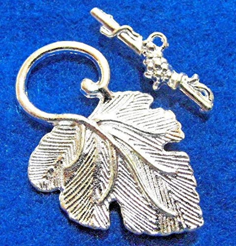 5Sets Silver-Plated Beautiful Leaf Toggle Clasps Hooks for sale  Delivered anywhere in USA