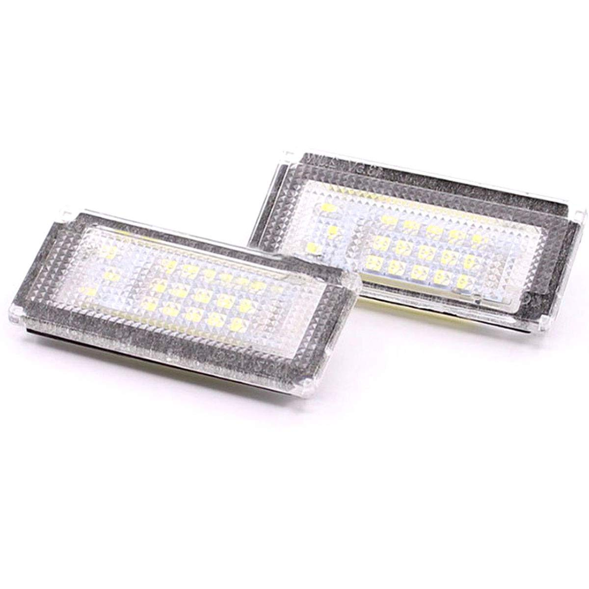 YUGUIYUN LED Kennzeichenbeleuchtung Nummernschildbeleuchtung Bright Wei/ß Lampen Leuchtmittel f/ür Mini Cooper S R50 R52 R53 2pcs