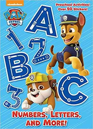 numbers letters and more paw patrol full color activity book with