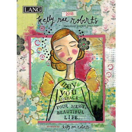 "LANG - 2018 Monthly Pocket Planner - ""Kelly Rae Roberts"" - Artwork By Kelly Rae Roberts - 13 Month - January to January - Portable 4.5"" x 6.5"""