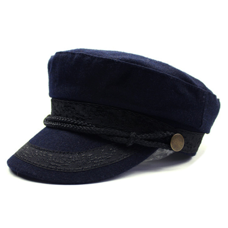 HowYouth Womens Ladies Wool Blend Newsboy Cap Greek Fisherman Mariner Breton Fiddler Braid Sailors Hat 60216