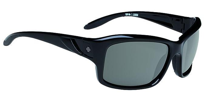 732da33a55 Image Unavailable. Image not available for. Colour  Spy Optics Women s Libra  Black - Grey Polar Wrap Polarized Sunglasses Black