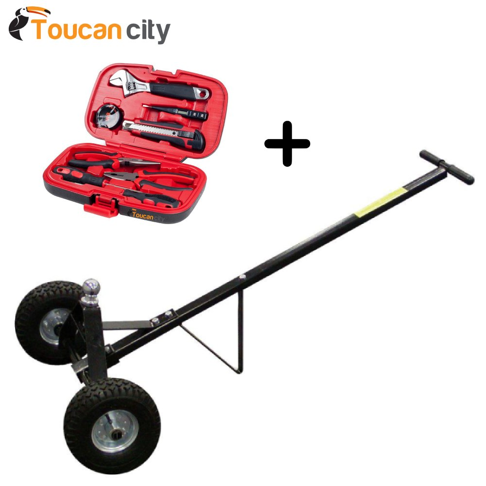 BLACK BULL 600 lbs. Trailer Mover 800289 and Toucan City Tool kit (9-Piece)