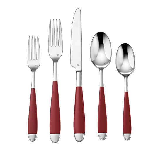 Christmas Tablescape Decor - Cuisinart Beille red 20-piece flatware set - Service for 4