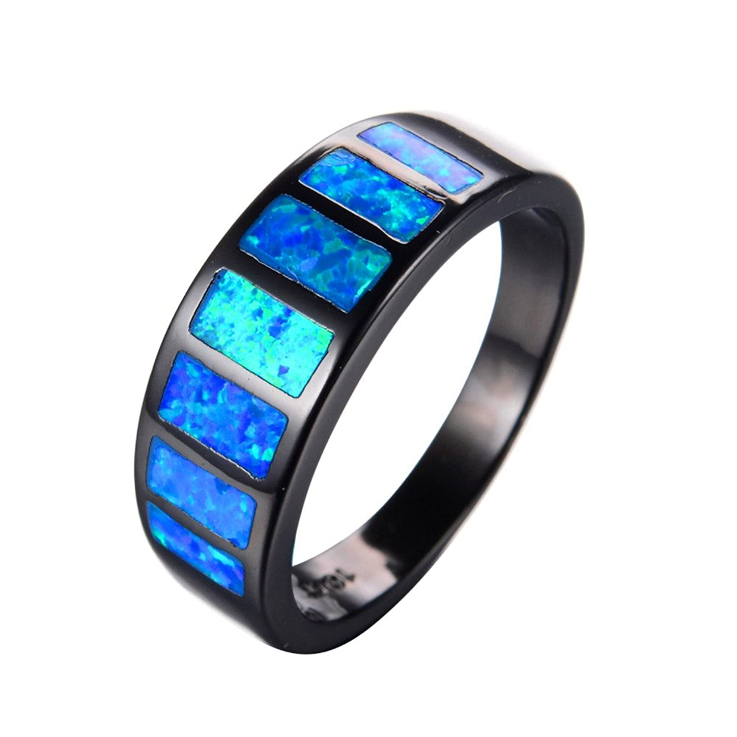 Elegant Black Fire Opal Wedding Rings Wedding