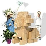 Des blocs de construction géants - jeu de construction comprenant 60 blocks de taille XXL, des cadeaux pour garçons et filles, des scénarii infinis peuvent se dérouler