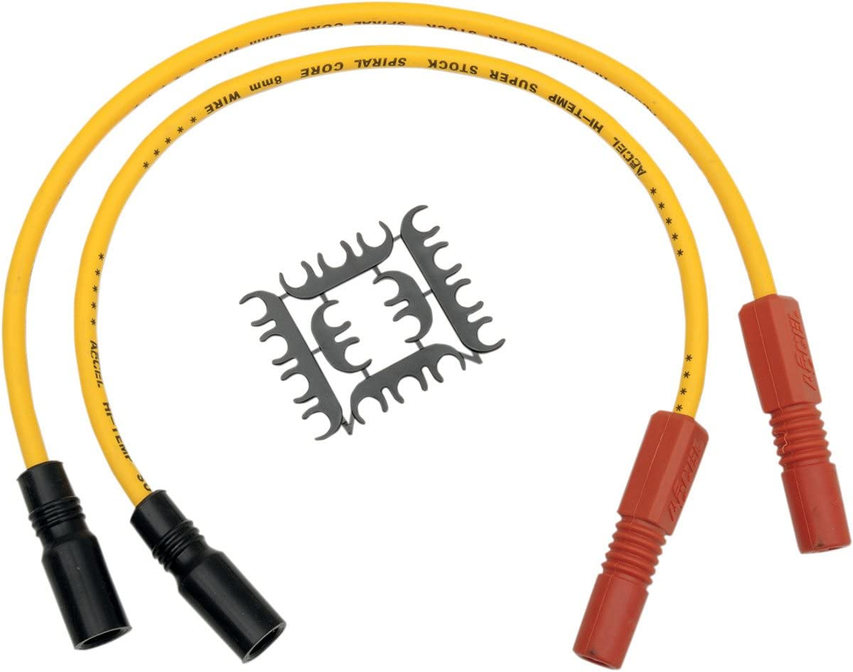 ACCEL Super Stock 8MM Ferro-Spiral Core Yellow Wire Set 171098-Y
