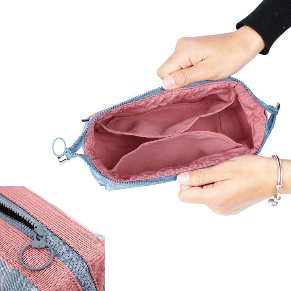 WayOuter Make-up Taschen Kosmetiktasche Reise Kosmetiktasche Frauen Portable Make Up Pouch Blue