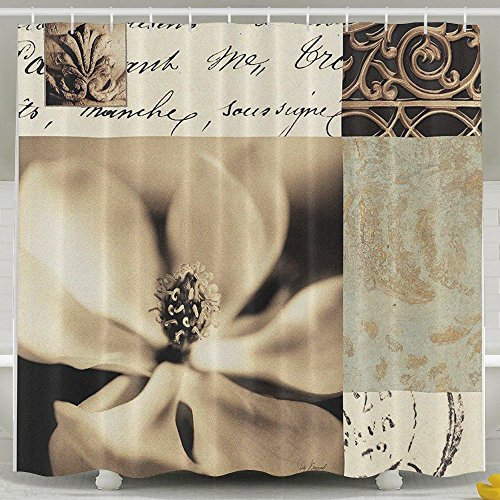 Magnolia Montage - XsWu Fine Art Tapestries Magnolia Montage Shower Curtain Bath Curtain With Hooks 60x72