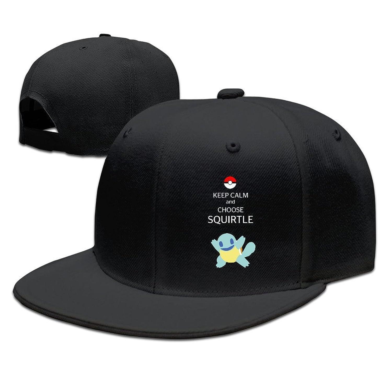 HNN Unisex Keep Calm And Choose Squirtle Flat Baseball Caps Hats