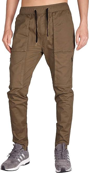 ITALY MORN Hombre Chino Cargo Casual Pantalón Slim Fit ...