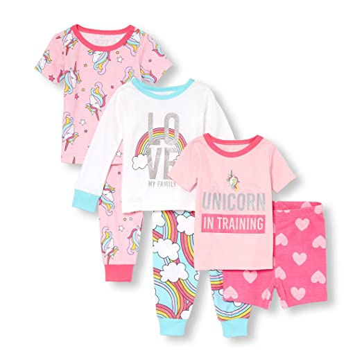 5b4aac370 Amazon.com  The Children s Place Baby Girls 6 Piece Sleepwear Bundle ...