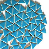 Craft Mosaic tiles - Glazed Ceramic Triangles - Thalo Blue