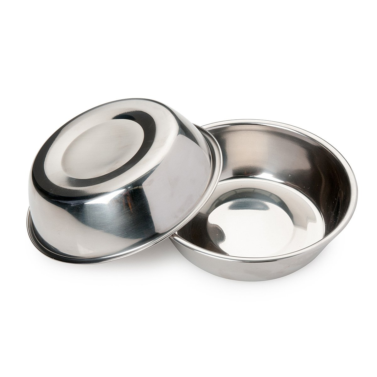 Bonza Two Piece 12oz Replacement Stainless Steel Dog Bowls for Pet Feeding Station. for Small Dogs and Cats (Small)