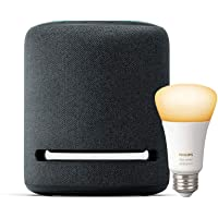 Amazon Echo Studio Smart Speaker with 3D audio and Alexa + Philips Hue Bulb