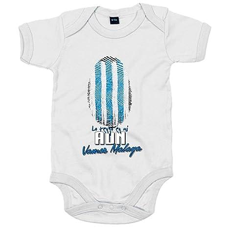 Body bebé lo tengo en mi ADN Málaga fútbol - Blanco, 6-12 ...