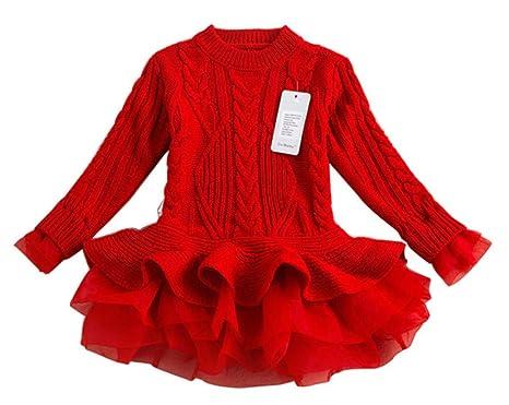 Amazon.com: Stesti Vestidos de Navidad para Niñas de gasa de ...