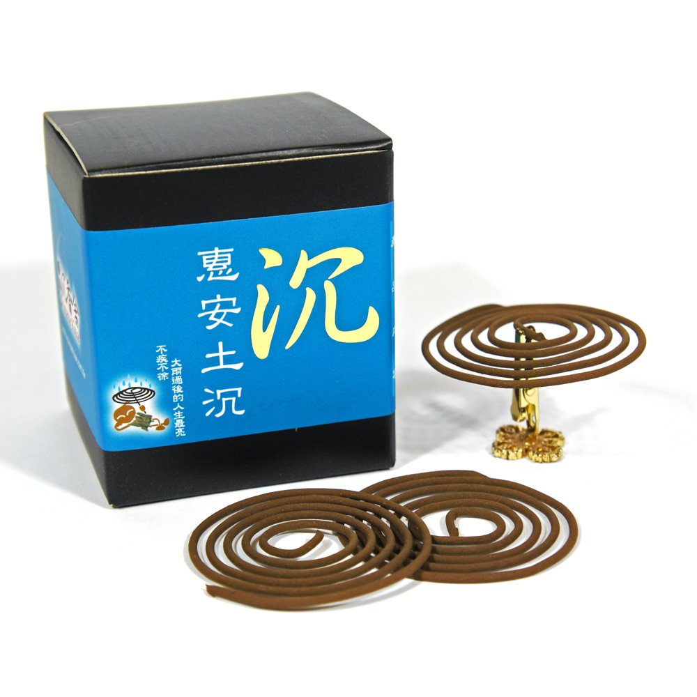 TuChen Chen Xiang Agarwood Aloeswood Incense Coils 48pcs 3.5hrs with Incense Clip by IncenseHouse - Incense Coils