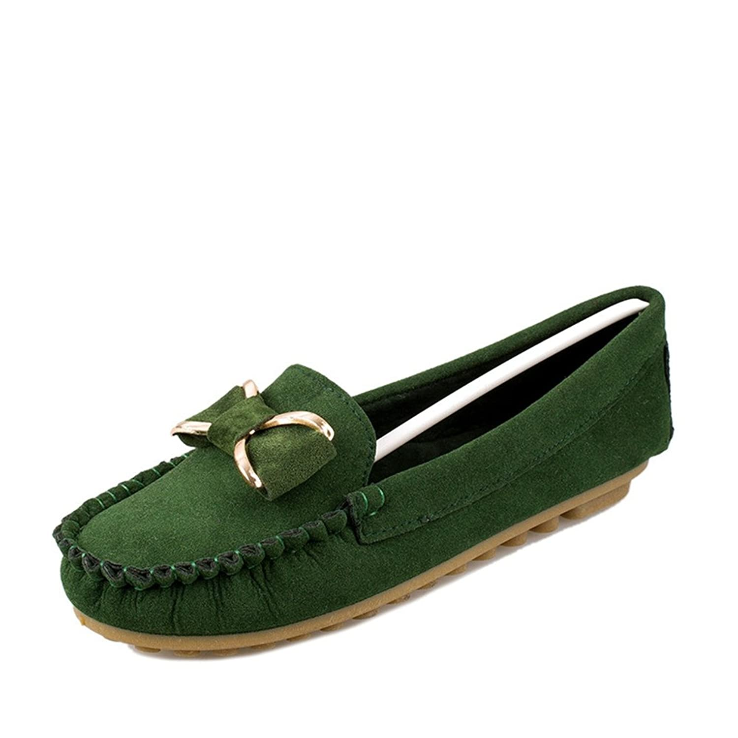 YINHAN Women's Bowknot Loafers Causal Driving Slip On Boat Flats Shoes