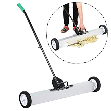 Yaheetech 36'' Rolling Magnetic Pick-Up Sweeper with Adjustable Long Handle, Floor Cleaner
