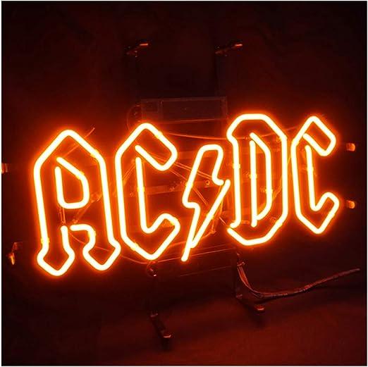 AC DC - Cartel luminoso de neón LED, para casa, bar, restaurante ...