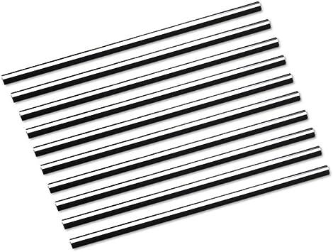 10 Stück Auto Lüftungsschlitz Auslassleiste Auto Styling Lüftungsgitter Auslass Zierleiste Leiste Innenverkleidung Dekoration Silber Auto