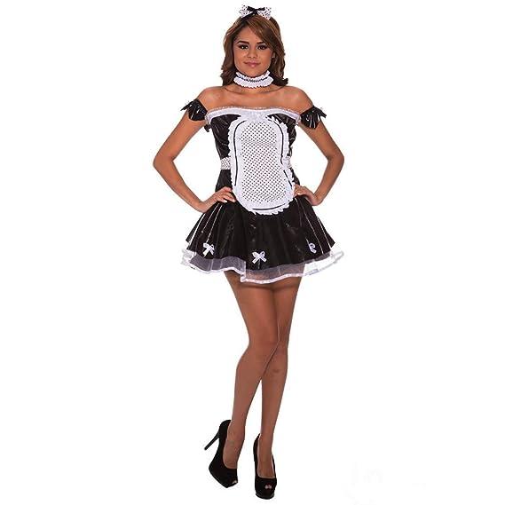 Amazon.com: Morph - Disfraz de mujer de color negro, M: Clothing