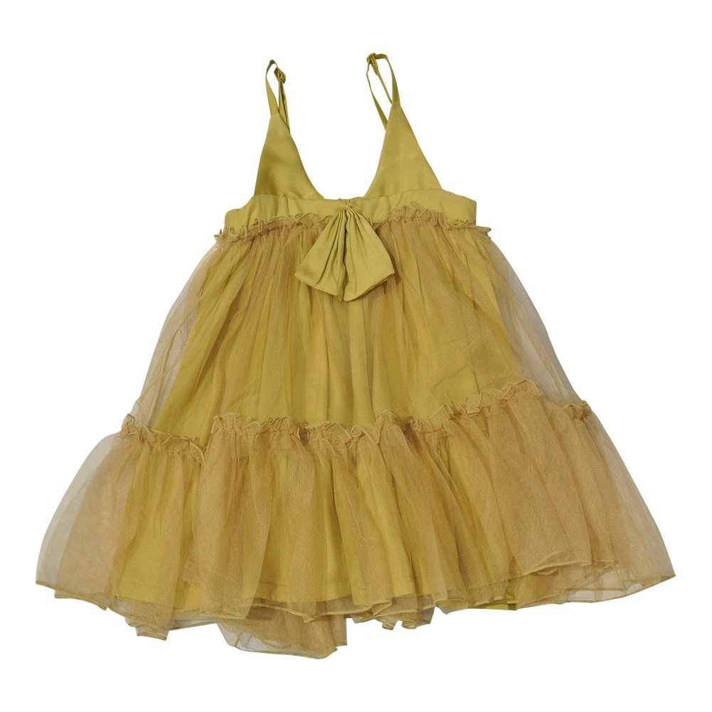 Annica Linen Dresses with Bow Detail (5T, Mustard Yellow)