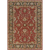 Surya CAE-1007 Caesar Rust Red 9-Feet by 12-Feet Area Rug